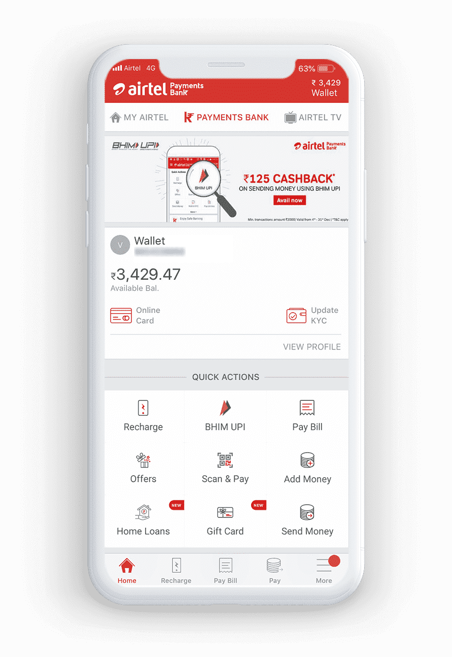 Airtel Payments Bank - Prepaid Recharge and Bill Payments Online